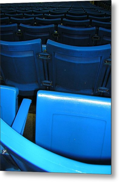 Blue Jay Seats Metal Print by Heather Weikel