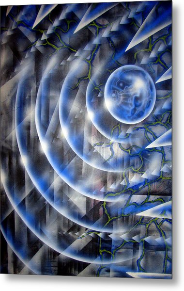 Blue Moon Falling Metal Print