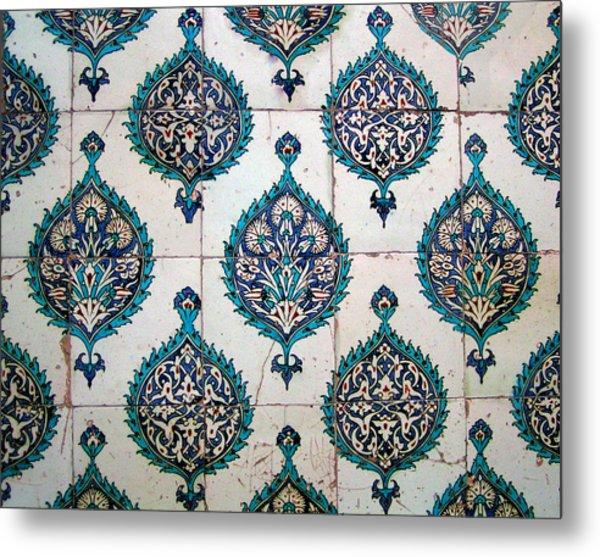 Blue Mosque Tiles Metal Print