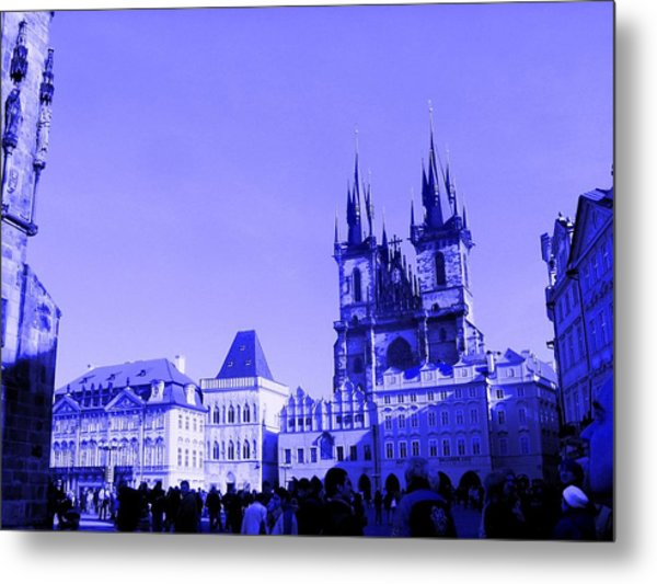 Blue Praha Metal Print