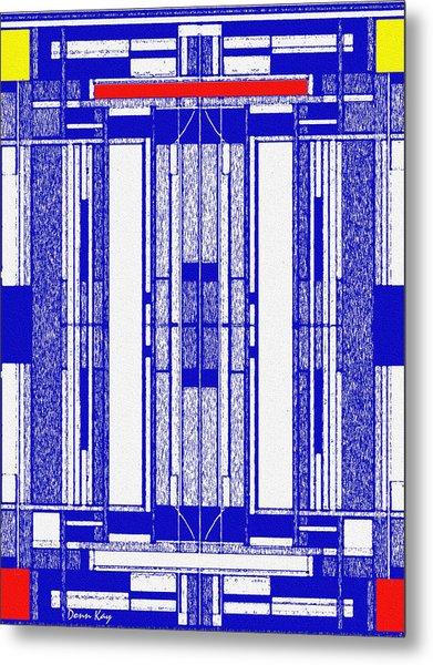 Blue Print Metal Print by Donn Kay
