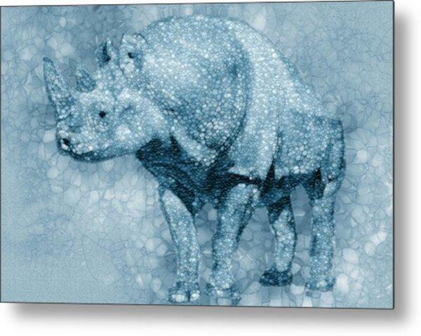 Blue Rhino Metal Print