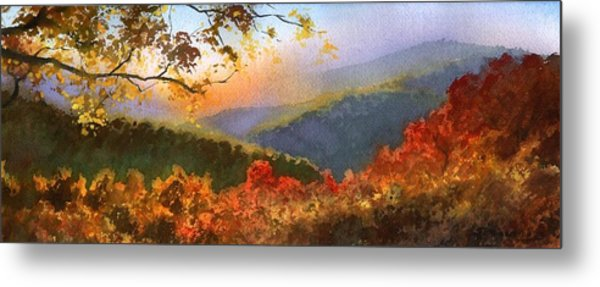Blue Ridge At Fall Metal Print