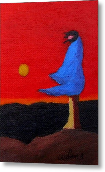 Blue Robe Metal Print