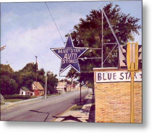 Blue Star Auto Metal Print by William  Brody