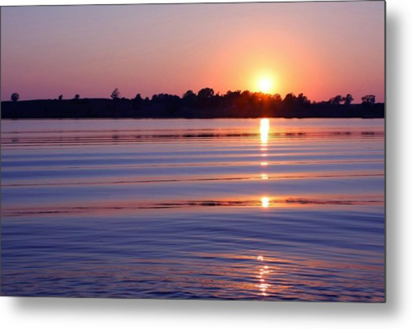 Blue Water Sunset Metal Print by Jim  Darnall