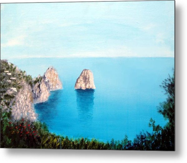 Blue Waters Of Capri  Metal Print