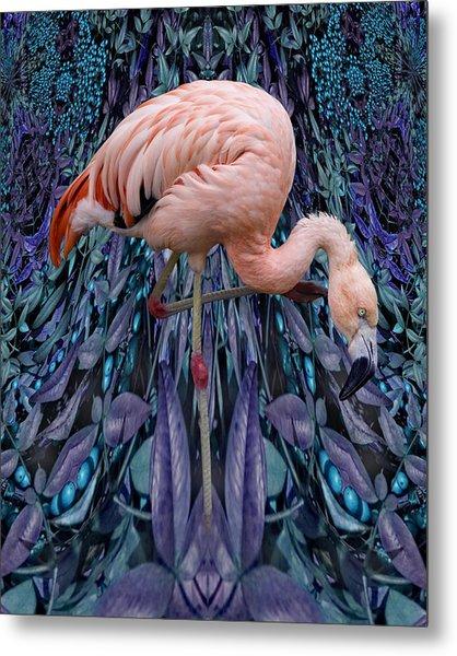 Blueberry Bird Metal Print by Chuck Brittenham