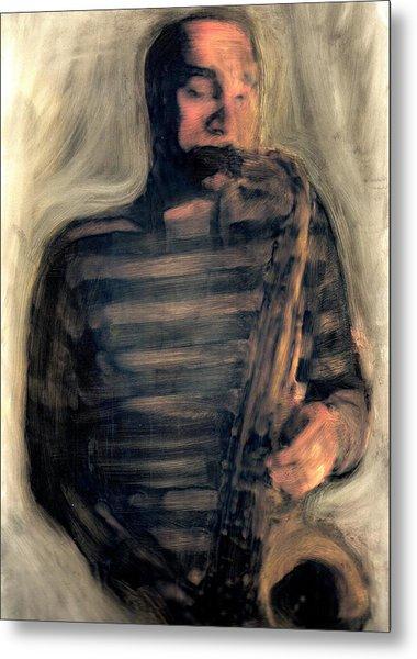Blues Man Metal Print