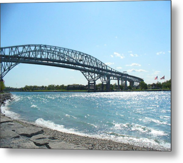 Bluewater Bridges Metal Print