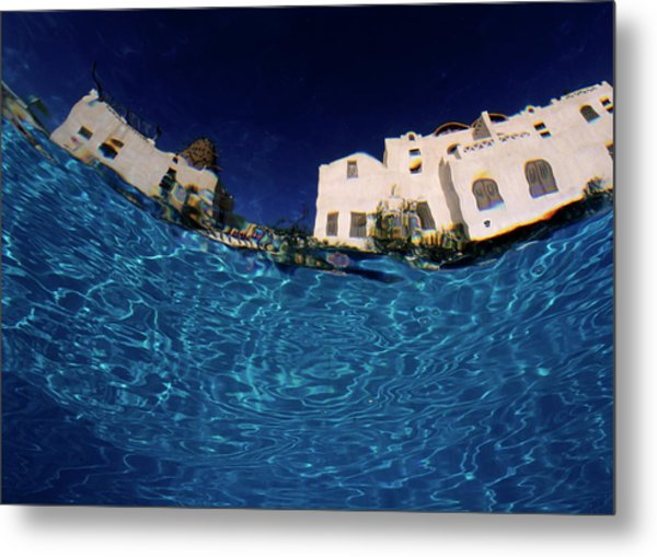 Blurred View Of A Hotel From Underwater Metal Print by Sami Sarkis