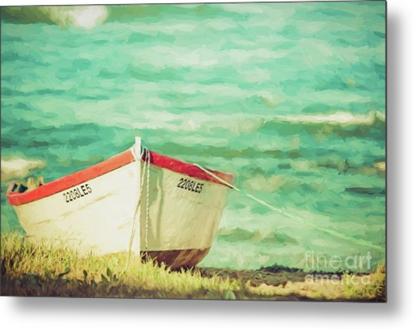 Boat On The Shore Metal Print