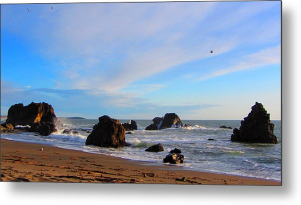Bodega Bay Sunset Metal Print