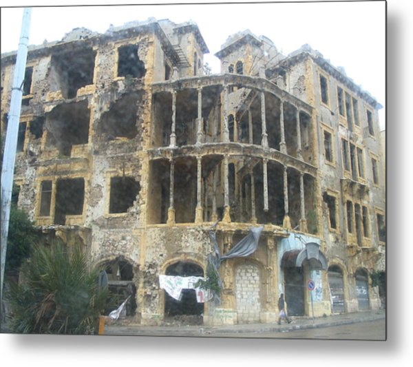 Bombed Out Metal Print by Yvonne Ayoub