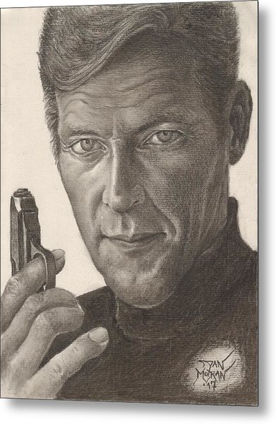 Bond Portrait Metal Print