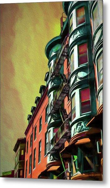 Boston's Famous North Square Metal Print