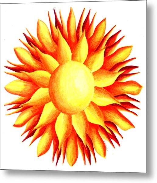 Bowling For Sunshine Metal Print by Maureen Frank The Mandala Lady