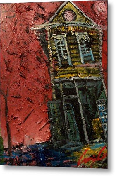 Metal Print featuring the painting Break Up by Amzie Adams