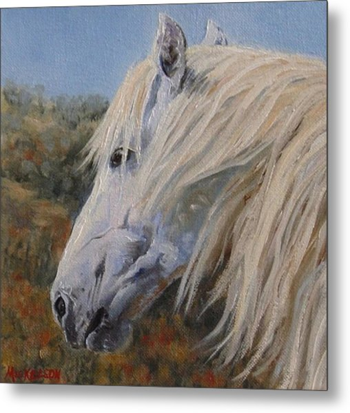 Breezy Metal Print by Debra Mickelson