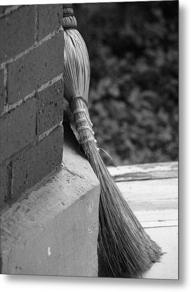 Brick And Broom Metal Print