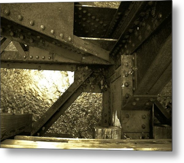 Bridge 1 Metal Print by Larry Ney  II