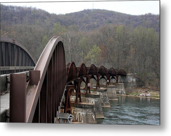 Bridge At Ohiopyle Pennsylvania Metal Print