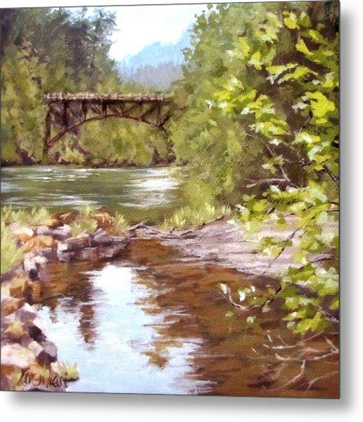 Bridge View Metal Print