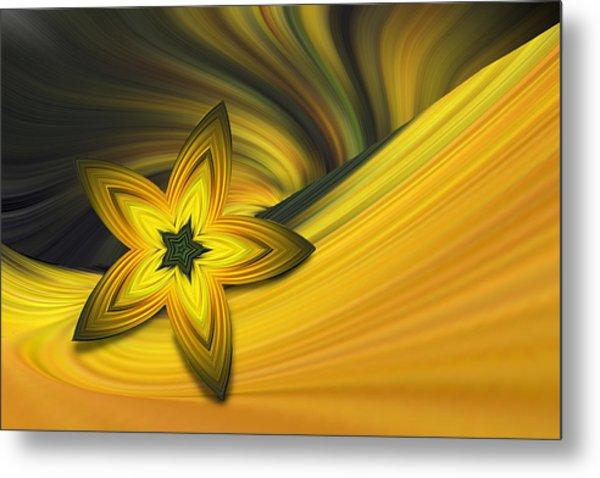 Bright Golden Star Metal Print by Linda Phelps
