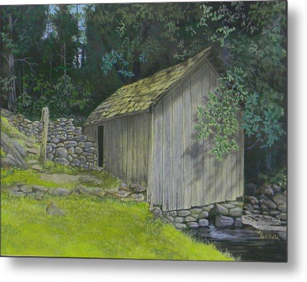 Brinegar Cabin Springhouse Metal Print