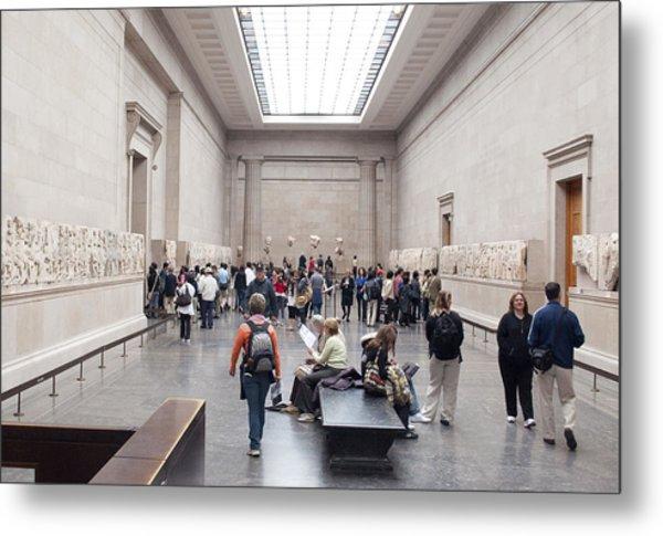 British Museum Gallery 0056 Metal Print by Charles  Ridgway