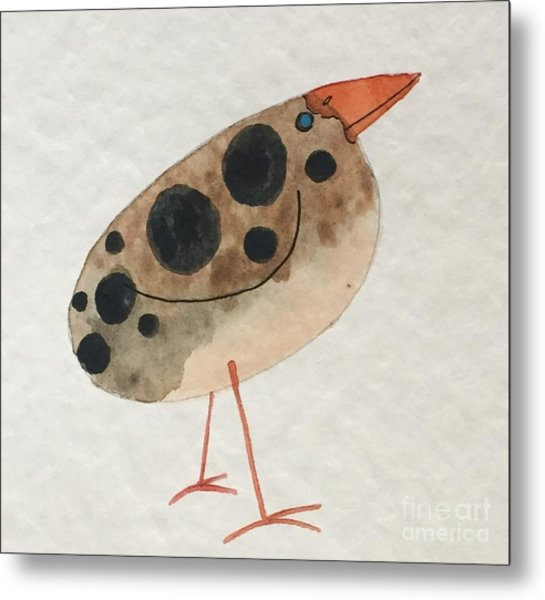 Brown Spotted Bird Metal Print