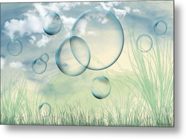 Bubbles Metal Print by Karen Kanaby
