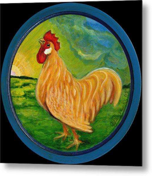 Buffy The Rooster Metal Print