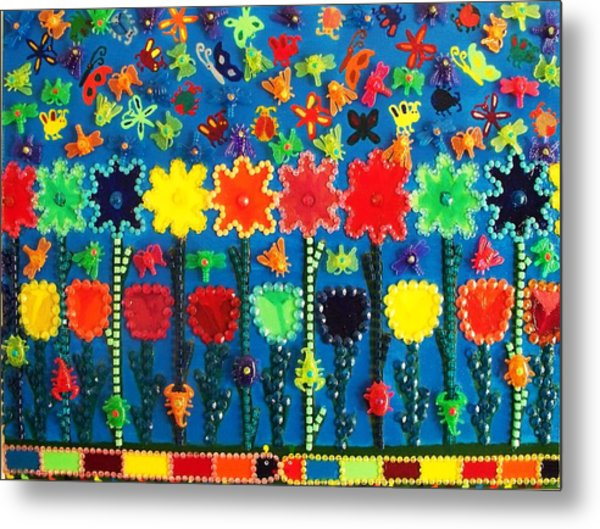 Bugs And Flowers Metal Print by Ricky Gagnon