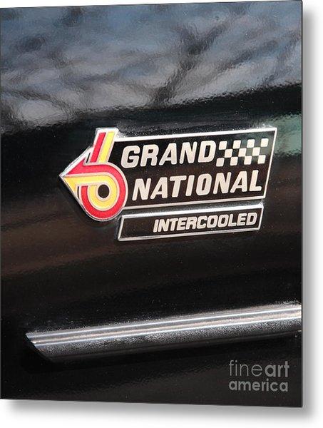 Buick Grand National Emblem Metal Print