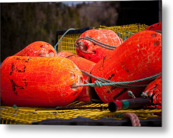 Buoys Metal Print by Gregory Bland