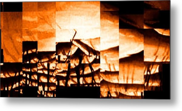 Burning Metal Print by Gyorgy Szilagyi