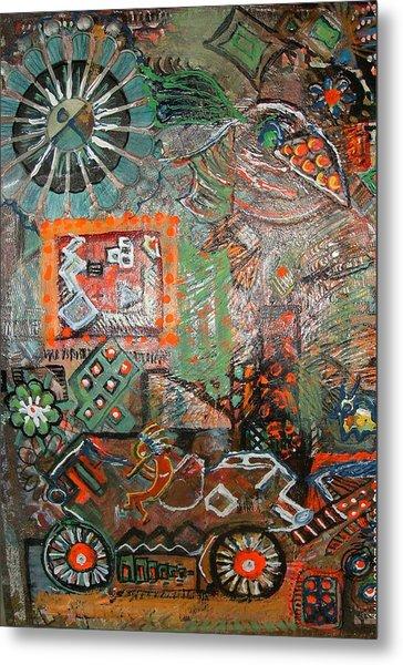 Busy Wheels And Things Metal Print by Anne-Elizabeth Whiteway