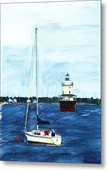Butlers Flat New Bedford Metal Print by David Poyant