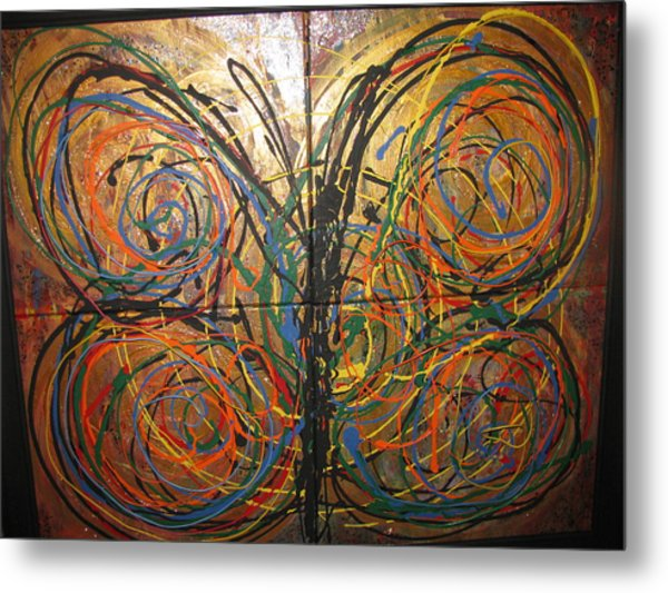 Butterfly Metal Print by Elena Abercrombie
