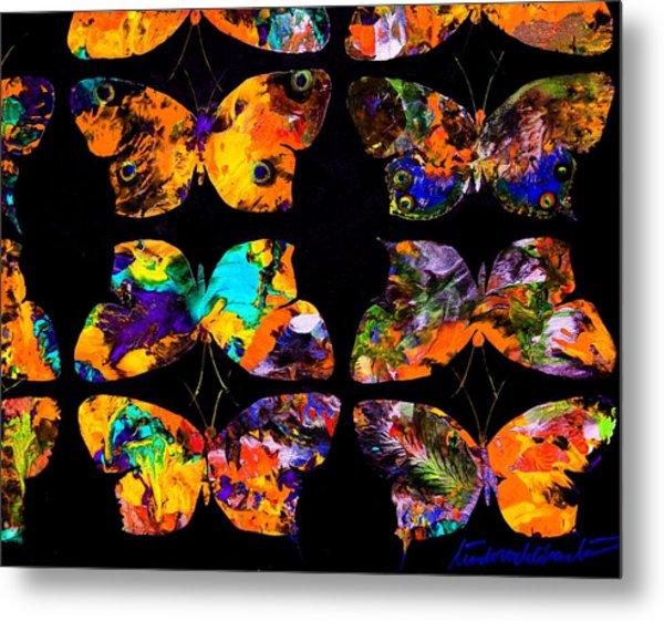 Butterfly Rows  Series 2 Metal Print by Teodoro De La Santa