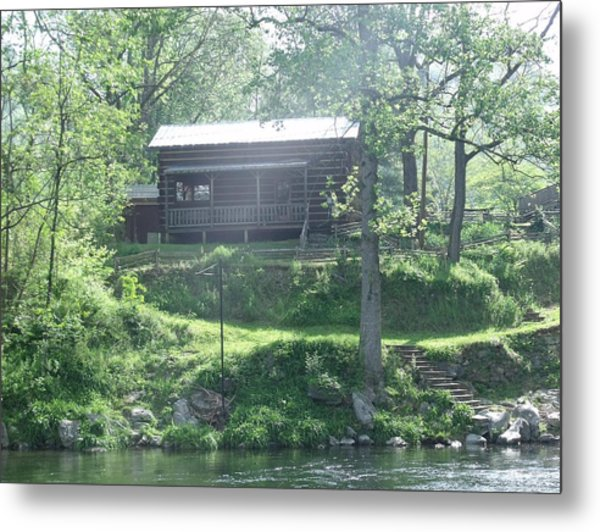Cabin In The Woods Metal Print by Ann Robinson