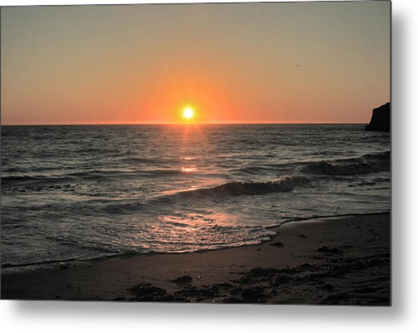 California Sunset Pacific Ocean Davenport  Metal Print by Larry Darnell