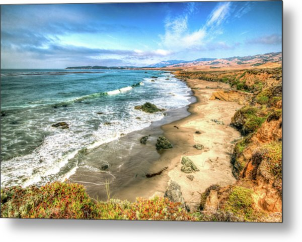California's Central Coastline Metal Print