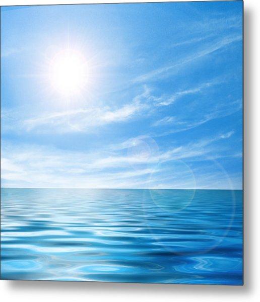 Calm Seascape Metal Print