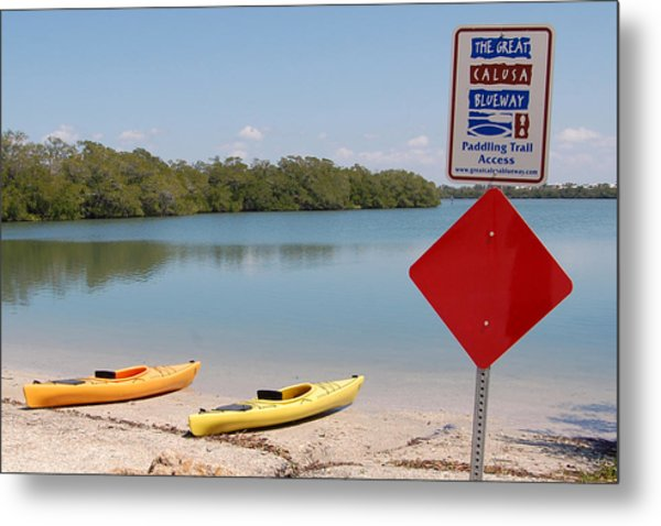 Calusa Blueway Metal Print by Steven Scott