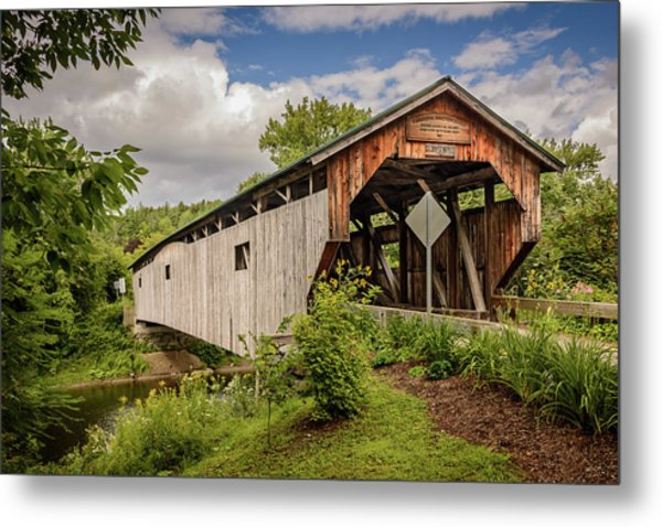 Cambridge Junction Bridge Metal Print
