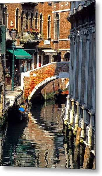 Canal Next To Church Of The Miracoli In Venice Metal Print by Michael Henderson