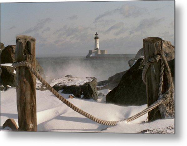 Canal Park Lighthouse Metal Print