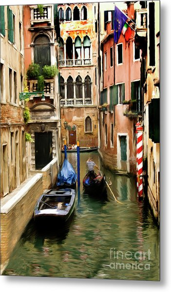 Canals Of Venice Metal Print by Susan  Lipschutz
